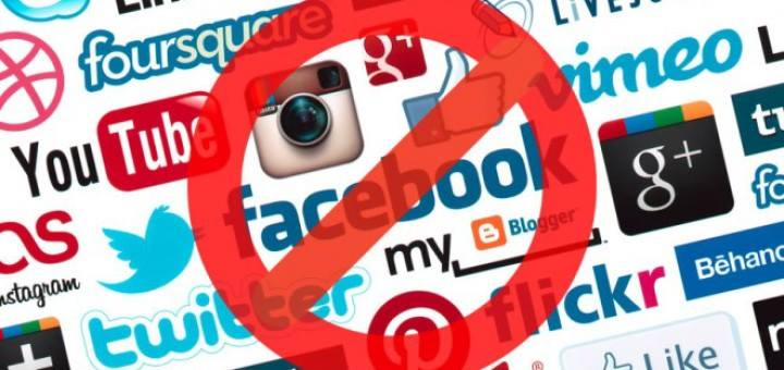 social networking sites and apps like Facebook and what's app banned in Srilanka