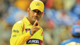 Dhoni 1st player in T20 history to hit 5000 runs as captain