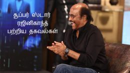 Some interesting information about superstar Rajinikanth!