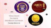 Vikatan awards - zee awards - behindwoods goldmedals - Complete Winner List!